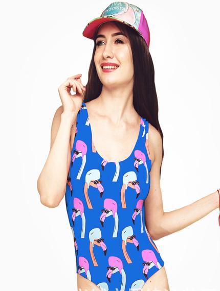 Яркий купальник Фламинго