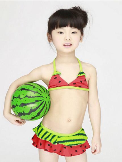 Детский купальник - арбузик-0